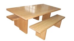 Bamboo Table & Bamboo Bench