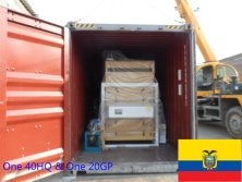 One 40HQ & One 20GP container machines exported to Ecuador in May 2015