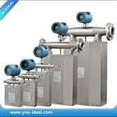 coriolis mass flowmeter with density+temperature+mass flow+volume flow measurement