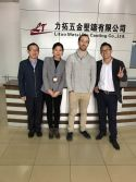 French Customer visit our factory