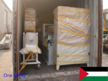 One 40HQ container machines exported to Palestine in January 2015