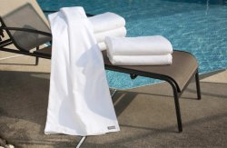 Luxury White Bath Towel