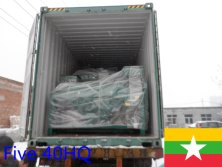 Five 40HQ container machines exported to Myanmar in November 2015