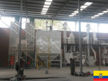 Paddy seed processing plant in Ecuador