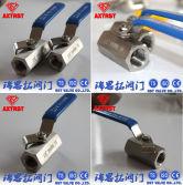 1pc hexagonal 2000wog stainless steel ball valve