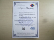 FCC Certificate of fanless pc