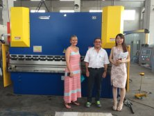 Clients from South Africa in our factory for inspection of their Press Brake