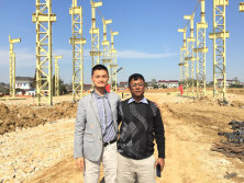 Bangladesh Customers Come to Visit the New Factory We Are Building