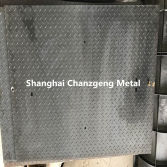 Checkered Steel Plate with Counterbore Cutting