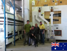 Oversea installation of the 10 ton/hour barley cleaning plant