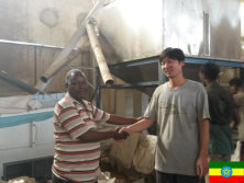 Engineer installed the 12th chickpea cleaning plant in Ethiopia