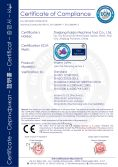 CE certificate for manual