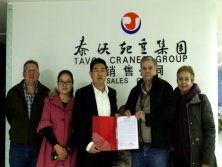 Guatemala Client Signed Agent Contract with Tavol Cranes Group