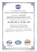 Our Factory Passed ISO:9001 2nd time Review in December 2015