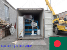 One 40HQ & One 20GP container machines exported to Bangladesh in April 2015