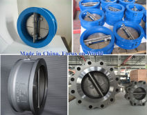 Dual disc wafer swing check valve
