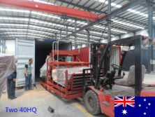 Two 40HQ container machines exported to Australia in May 2015