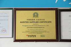 SGS AUDIT SUPPLER CERTIFICATE