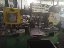 Our band saw blades cutting in overseas customer's plant
