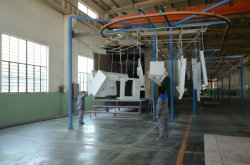 Powder coating lines