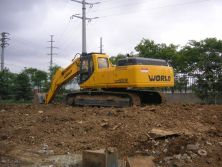 excavators testing in factory