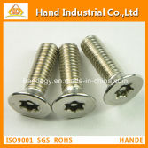 18-8 Stainless Steel screw Flat Torx Head Security Screws