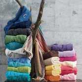 Soft mixed colors towel set