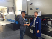 Cyprus Client Visit Press Brake Machine And Shearing Machine in Our Factory