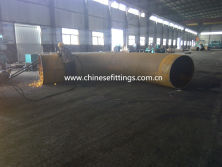 producing hot induction pipe bend