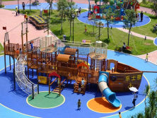 outdoor wooden playground equipment