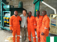 Maize seed processing line in Nigeria