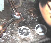 Welding The Segments to The Matrix Steel (HTC Diamonds)