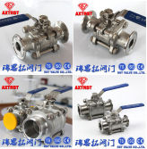 3PC stainless steel clamp ends ball valve