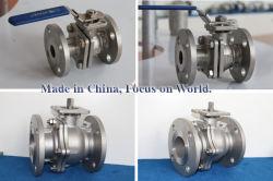 two piece API flange ball valves