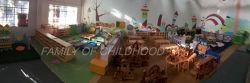 Showroom ,exposition hall,wooden block