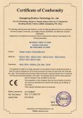 CE Certificate for Digital Leather Cutting Machine
