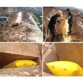 Stone Pushing Air Bag Diamond Wire Cutting