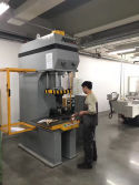 Japan Client Testing Hydraulic Press Machine in Our Factory