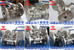 Stainless Steel 3PC Flange Floating Ball Valve