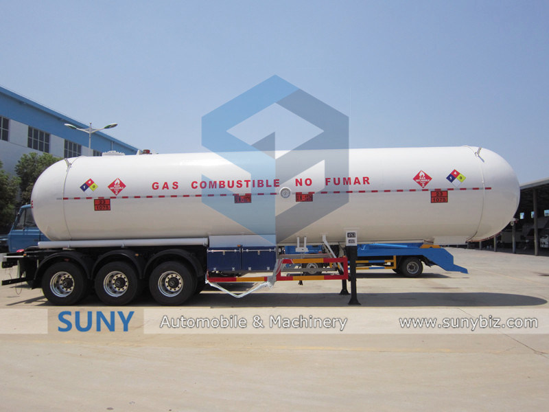 and ISO 59.53cbm LPG Tanker Car Trailers with Volume Optional