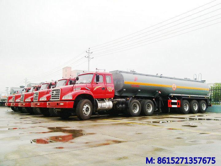 3 Axles Acid Tank Trailer for Sodium Hypochlorite Transport 29cbm Bleach