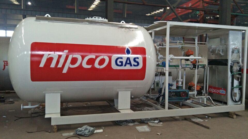 LPG Skid Station 10cbm 20cbm LPG Skid Tank Gas Station