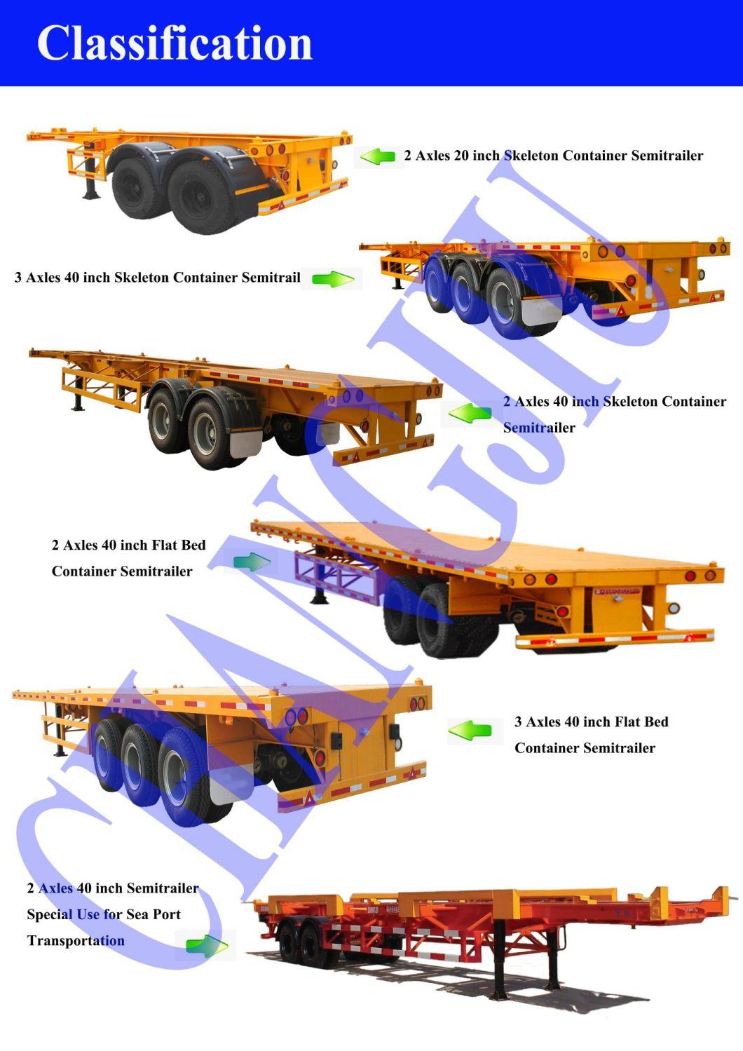 3 Axles Semi Trailer Flatbed Flat Bed Truck Semi Trailer for Sale