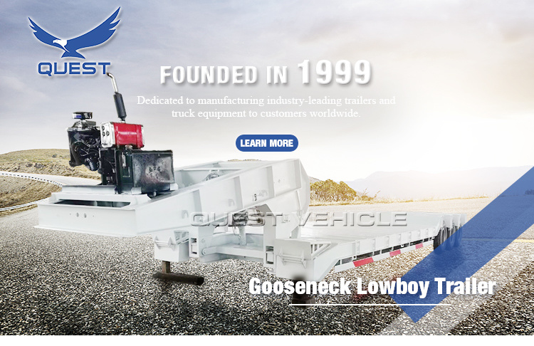 Excavator Trailer Front Loading Trailer 60ton Lowboy Trailer for Sale