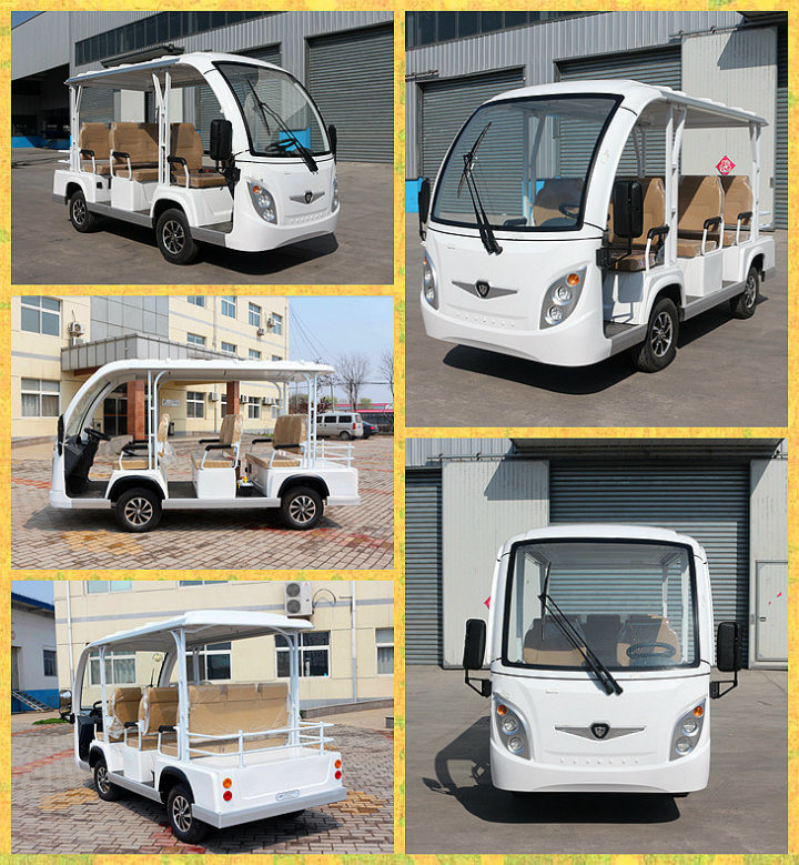 Zho<em></em>ngyi High Quality 11 Seats Enclosed Electric Power Electric Shuttle Bus with Ce and SGS Cetification