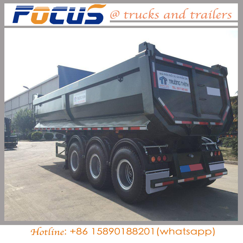 U Type Dumper Dump Trailer for Tractor Truck for sale_Cheap