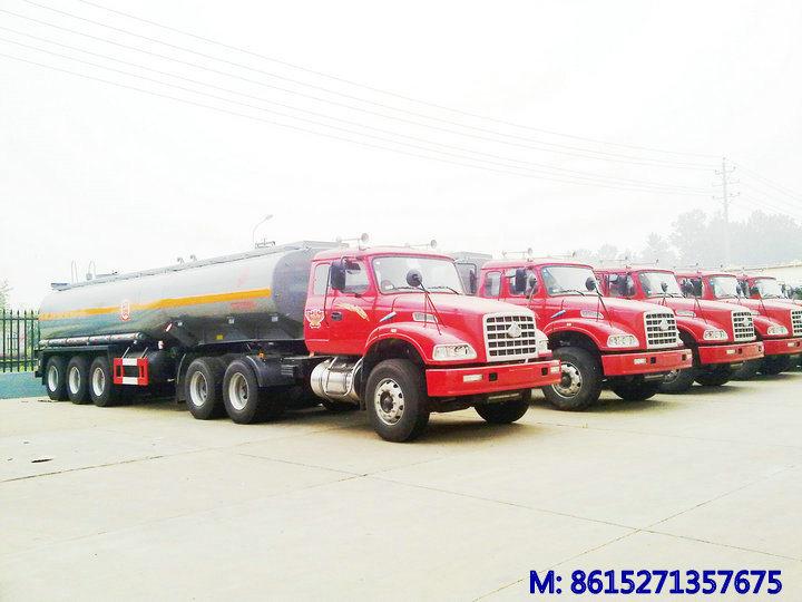Tri Axles Hydrofluoric Acid Tanker Trailer (Hydrochloride Acid HCl 35% Tank Capacity 33, 000L Muriatic Acid)