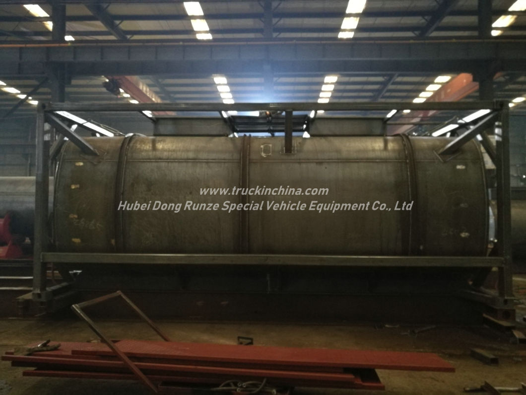 Hydrochloric Acid Tank (ISO 20Feet Co<em></em>ntainer f<em></em>rame) 22kl HCl Un1789 Max 35% Corrosive