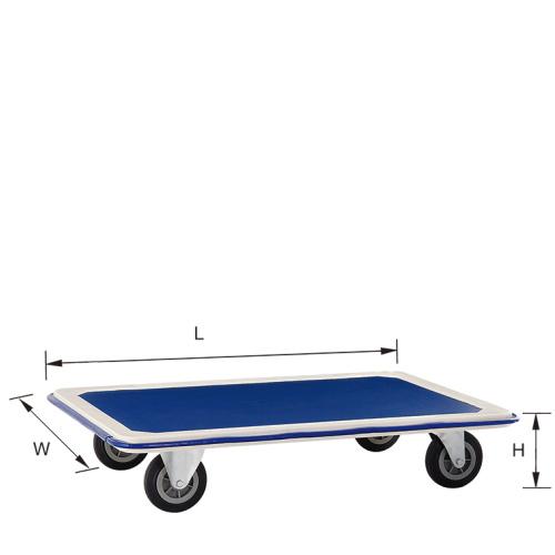 Platform Folding Truck Cart Flat Blue Bed Trolley Hand Trolley Pzs150b