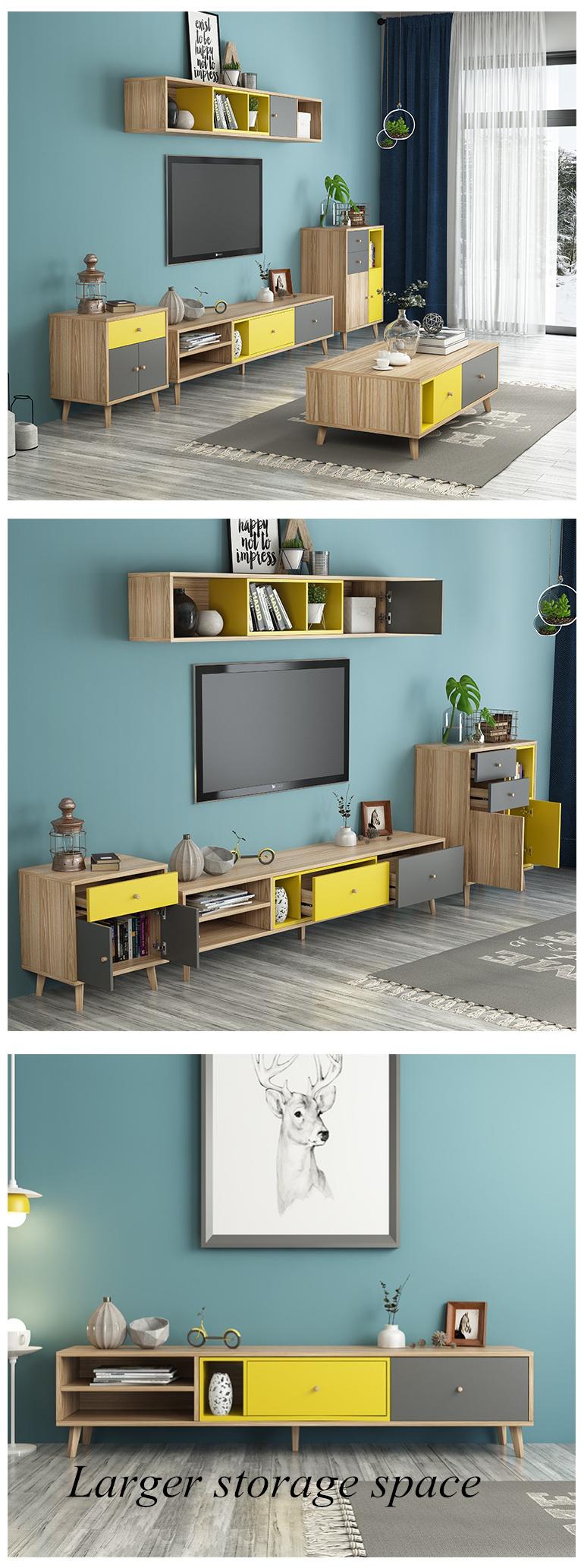 MDF Stylish Modern TV Unit Stand Living Room Furniture